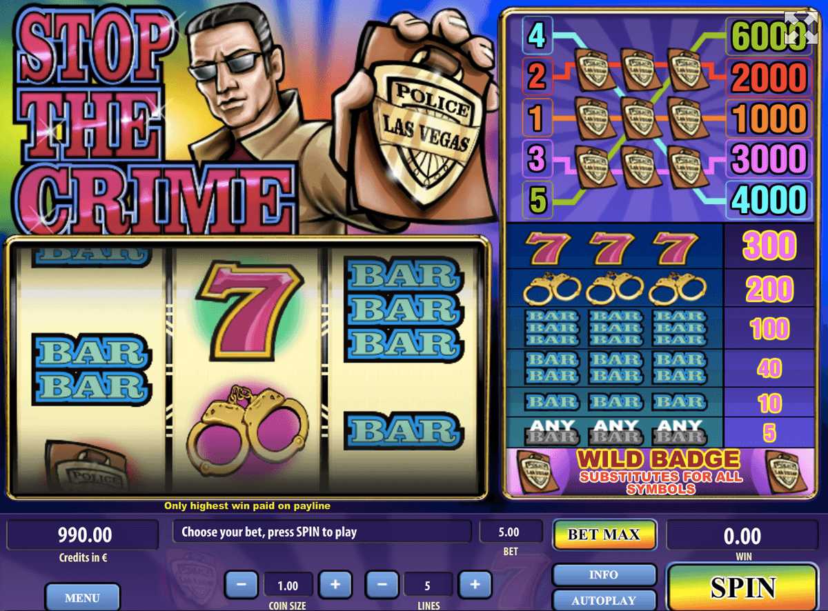 STOP THE CRIME TOM HORN CASINO SLOTS