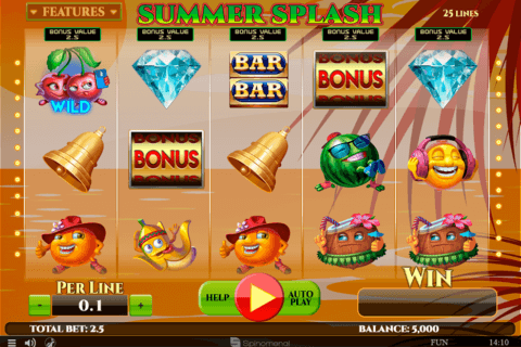 SUMMER SPLASH SPINOMENAL CASINO SLOTS