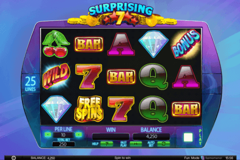 SURPRISING 7 SPINOMENAL CASINO SLOTS
