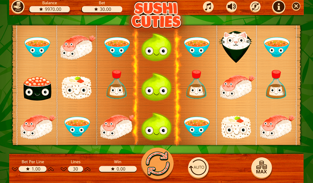 SUSHI CUTIES BOOMING GAMES CASINO SLOTS