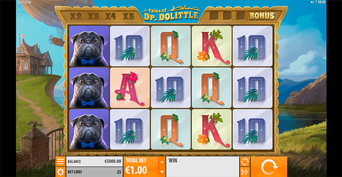 tales of dr dolittle quickspin casino slots