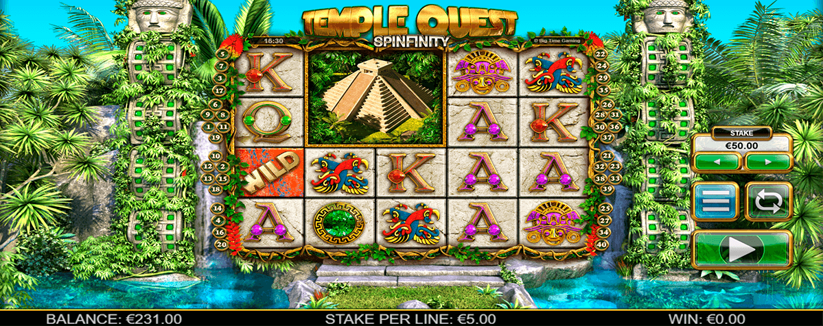 TEMPLE QUEST SPINFINITY BIG TIME CASINO SLOTS
