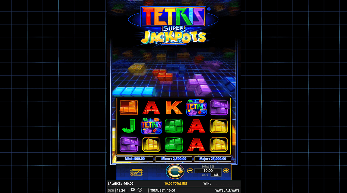 The Tetris Super Jackpot slot game can be found at online casinos offering WMS Gaming software who are a wholly owned subsidiary of Scientific Gaming.WMS Gaming do not always publish their RTP or House Edge figures as standard.6/