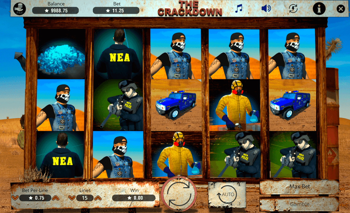 THE CRACKDOWN BOOMING GAMES CASINO SLOTS