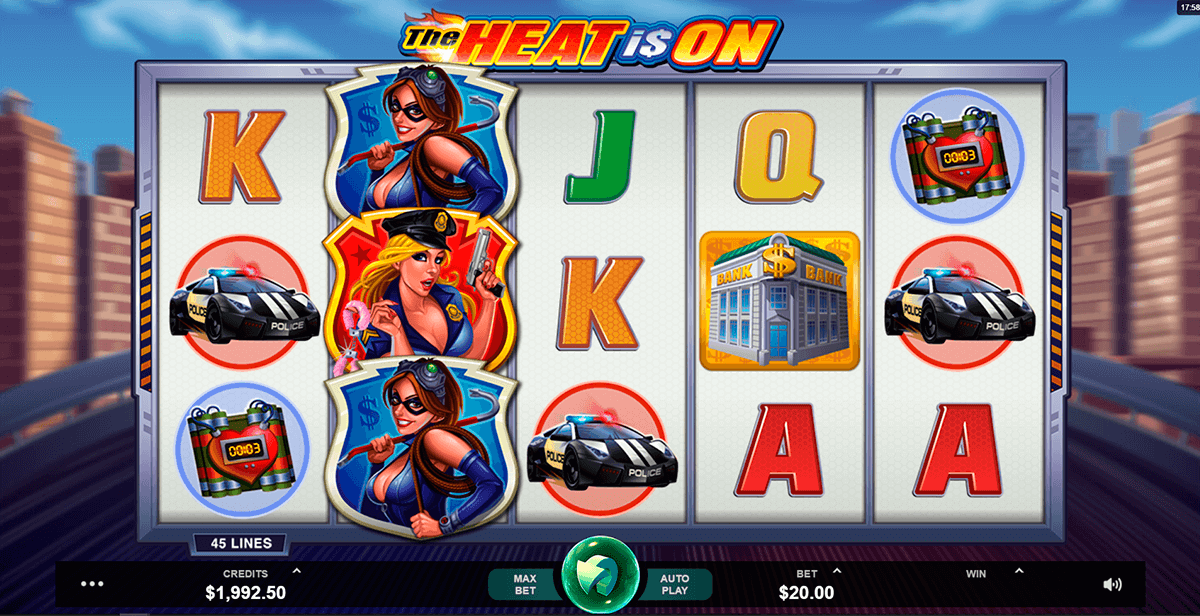 THE HEAT IS ON MICROGAMING CASINO SLOTS