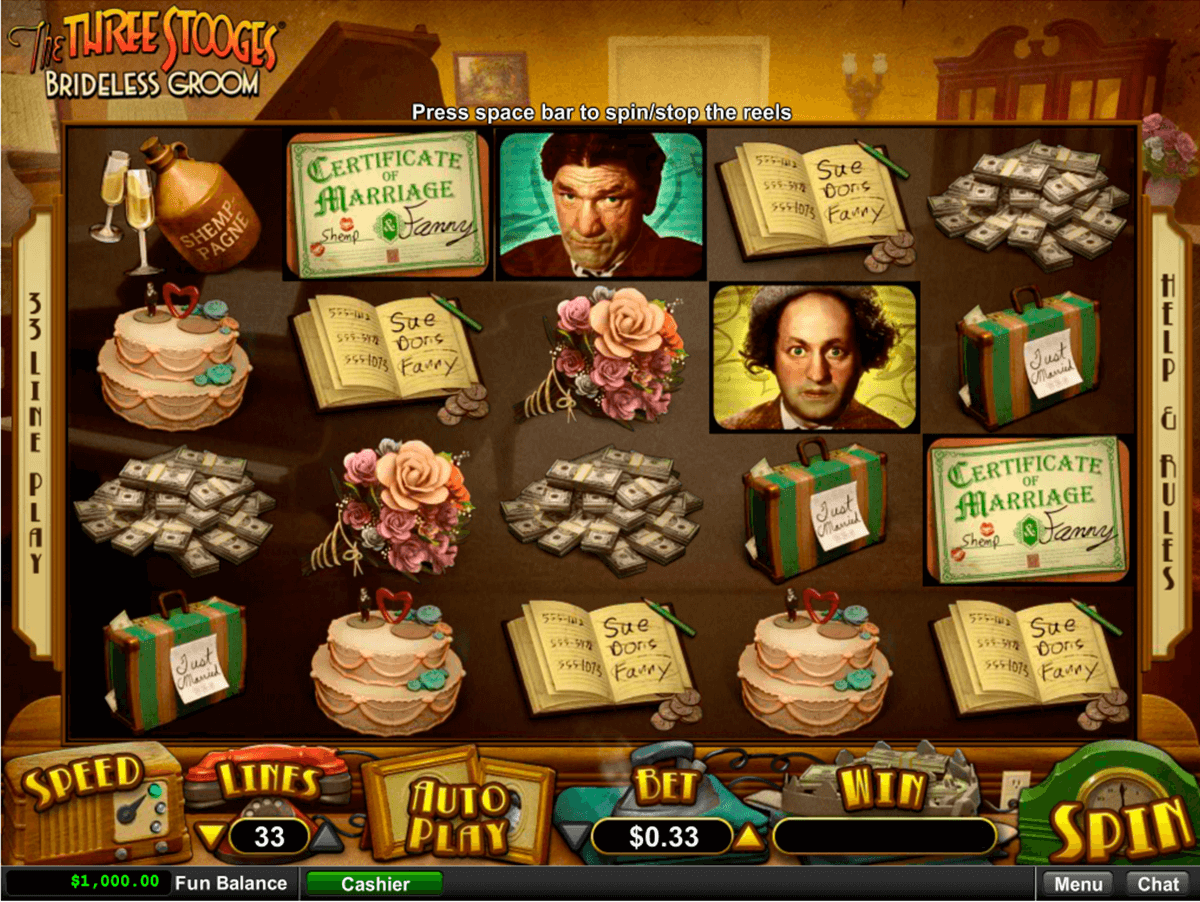 The Three Stooges - Brideless Groom Slot Machine Online ᐈ RTG™ Casino Slots