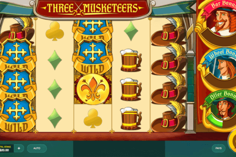 THREE MUSKETEERS RED TIGER CASINO SLOTS