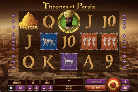 THRONES OF PERSIA TOM HORN CASINO SLOTS