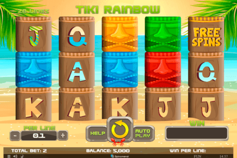 TIKI RAINBOW SPINOMENAL CASINO SLOTS