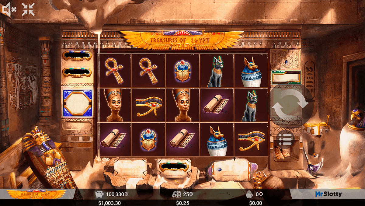 Cleopatra Treasure Slot - Play Free Casino Slots Online