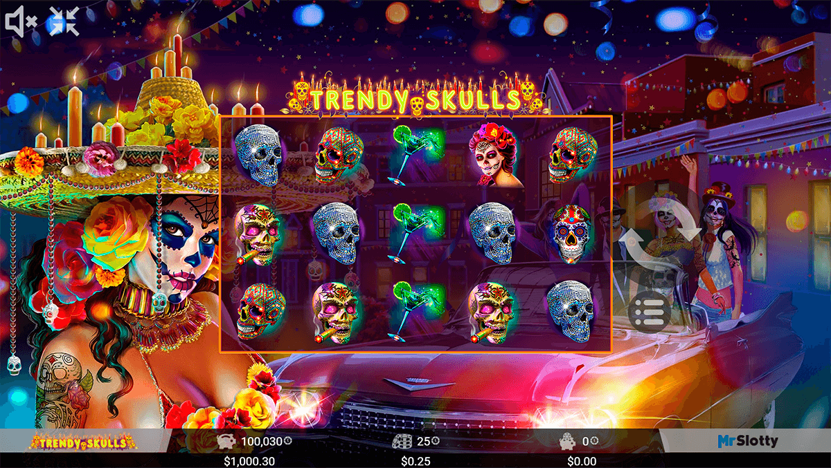 Trendy Skulls Slot Machine - Play MrSlotty Slots for Free