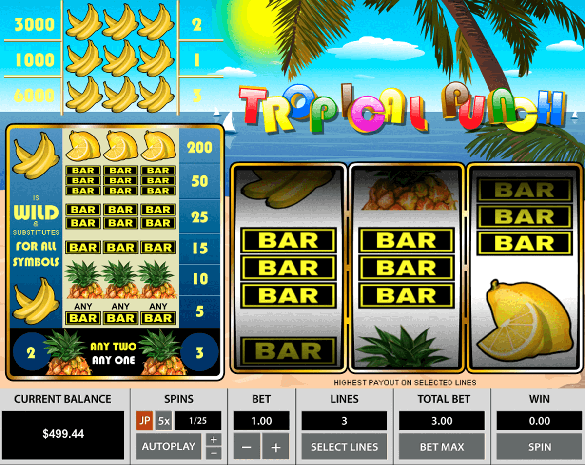 tropical punch pragmatic casino slots