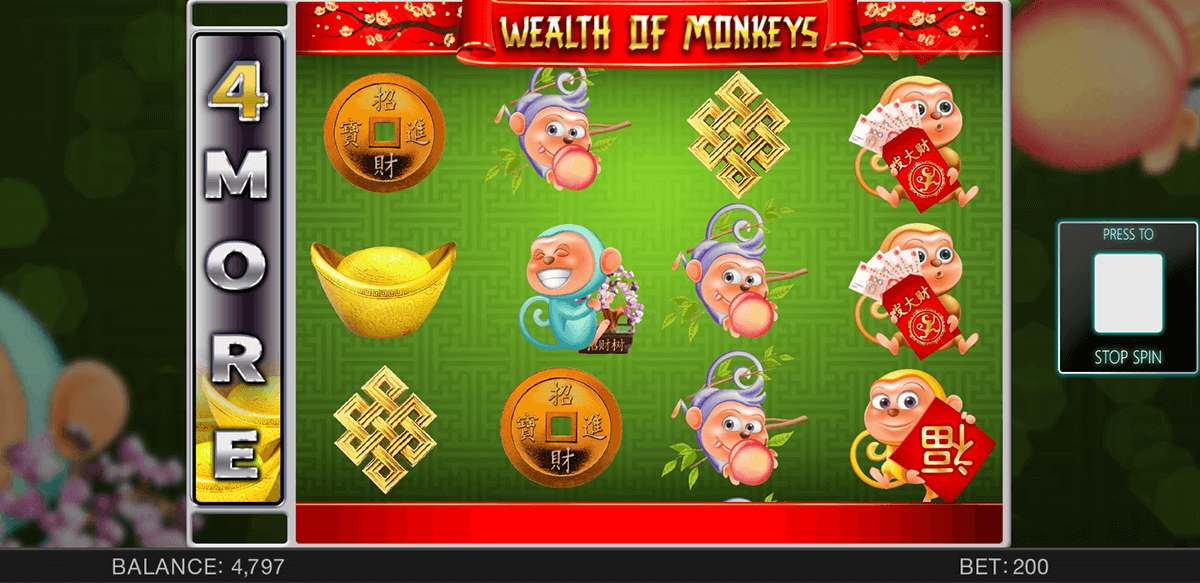 WEALTH OF MONKEYS SPINOMENAL CASINO SLOTS