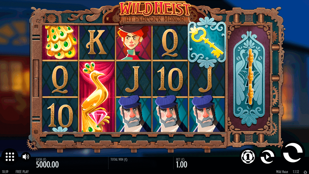 wild heist at peacock manor thunderkick casino slots