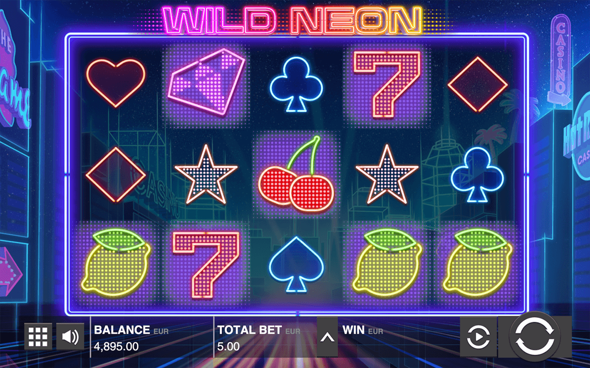 WILD NEON PUSH GAMING CASINO SLOTS