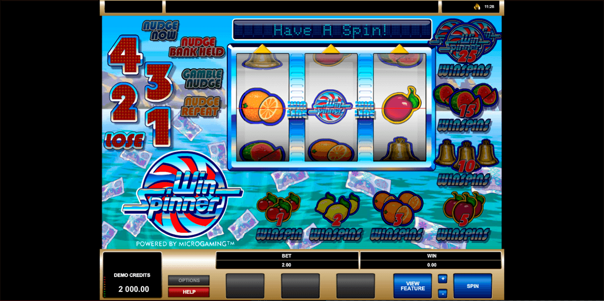 win spinner microgaming casino slots