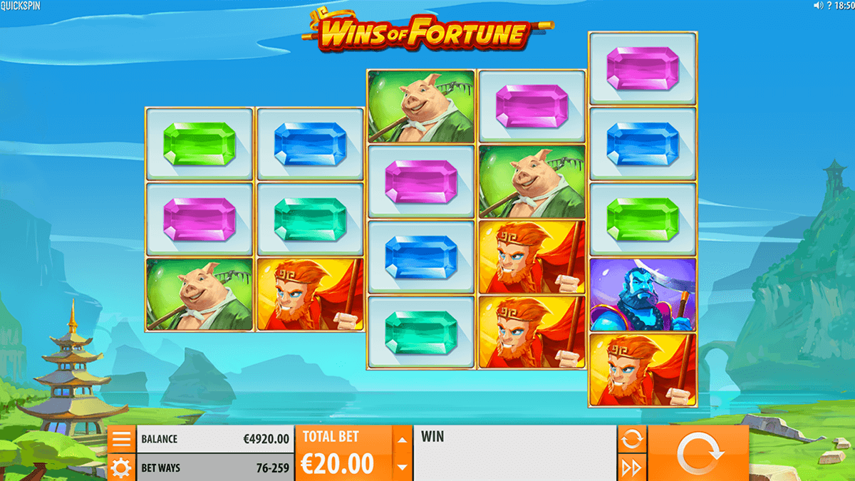 wins of fortune quickspin casino slots