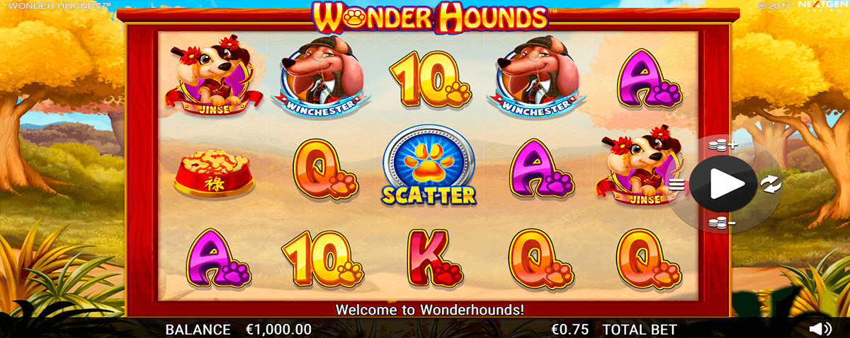 WONDER HOUNDS NEXTGEN GAMING CASINO SLOTS